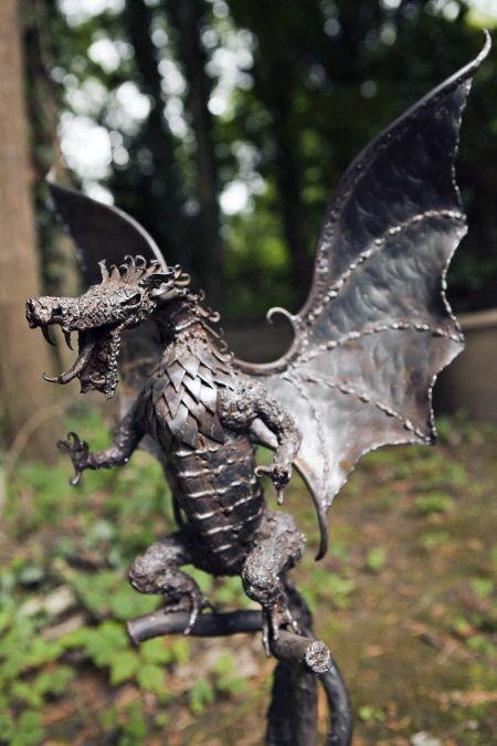 Steel Dragon Sculpture Dragons Pinterest Yards