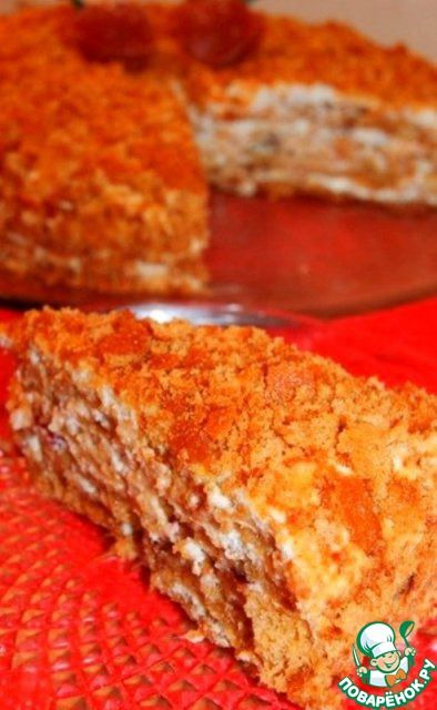 """Торт медовый """"Особенный"""" - кулинарный рецепт"""