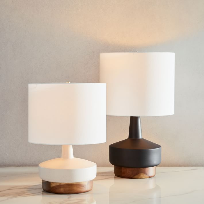 Wood Ceramic Table Lamp Small In 2021 Table Lamp Wood Modern Table Lamp Table Lamp