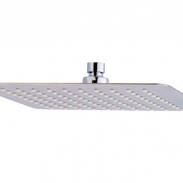 57.48€ Rociador de ducha cuadrado anti-cal en ABS cromado Dimensiones: 200 x 200 mm. Acabado Cromo. Entrada 1/2' Hembra.