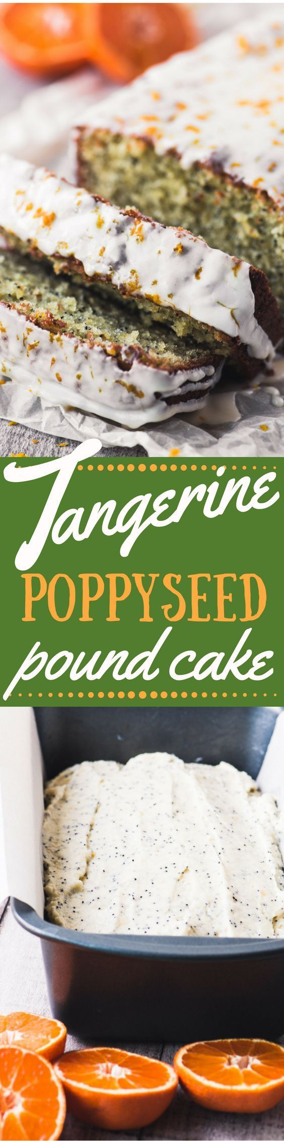 Tangerine Poppy Seed Pound Cake is bursting with juicy citrus flavor and crunchy poppy seeds ~ just when you thought winter had nothing fresh to offer! ~ http://theviewfromgreatisland.com