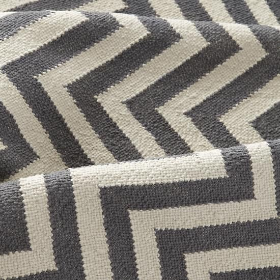 The Land of Nod | Kids Rugs: Grey Chevron Patterned Rug in All Rugs