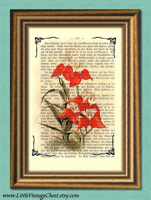 ORANGE ORCHIDS  Dictionary Art Print  by littlevintagechest, $7.99