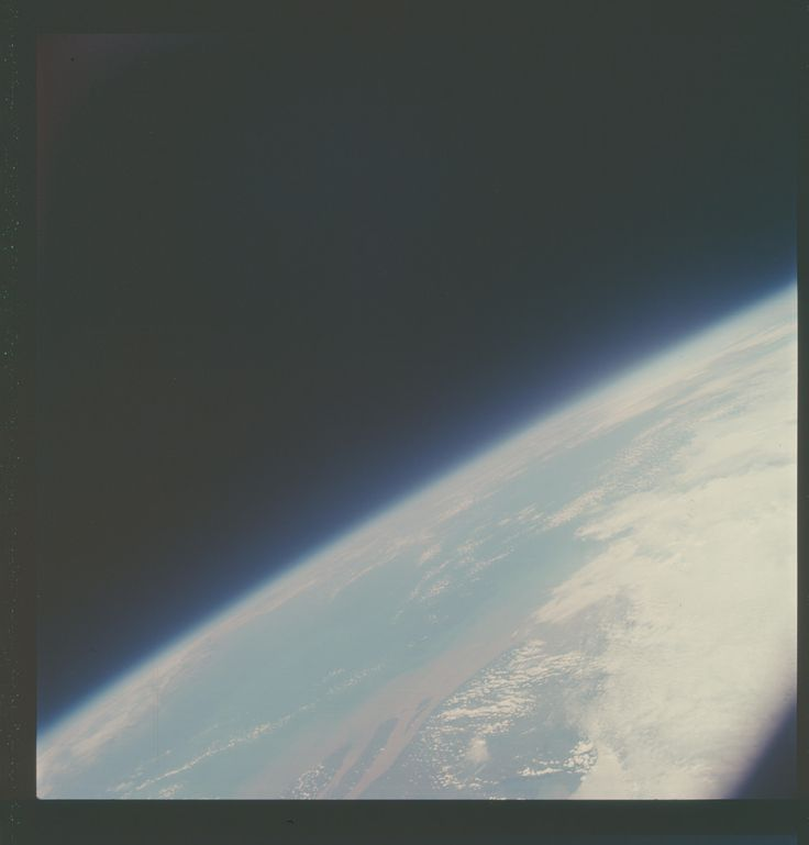 Apollo 7 Hasselblad image from film magazine 7/S - Earth Orbit