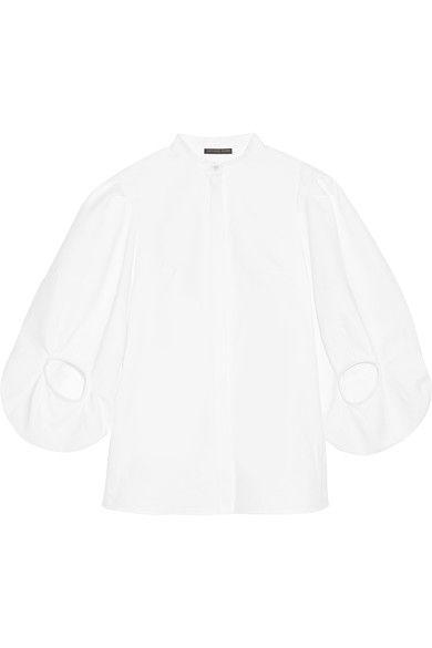 Alexander McQueen - Cotton-piqué Shirt - White