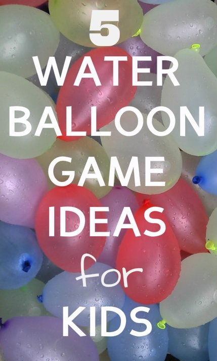 5  Water Balloon Games