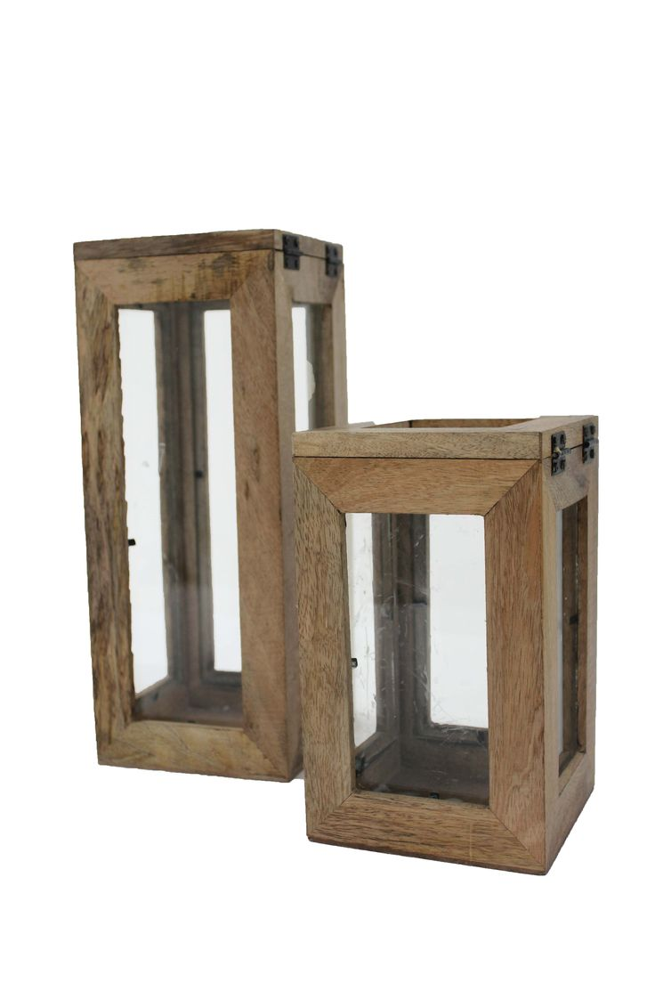 wooden and glass lanterns