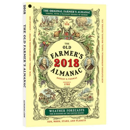 Farmers Almanac, Old Farmer's Almanac long range weather forecasts, full moon dates, weather history, sun rise set times, gardening, recipes, folklore