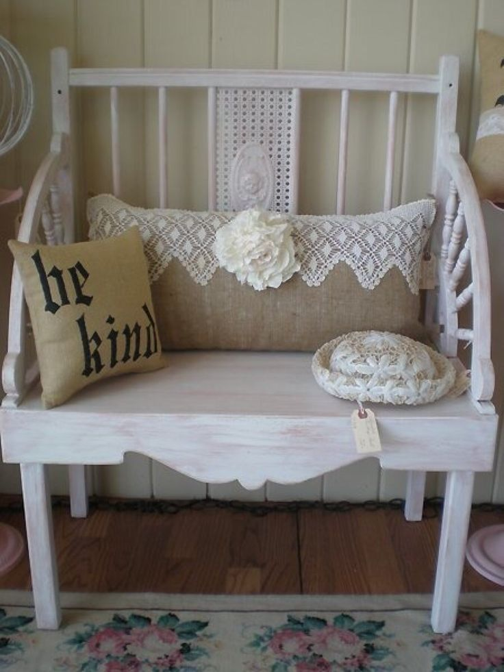 Shabby Chic Bench ~ Best images about my style is cottage country
