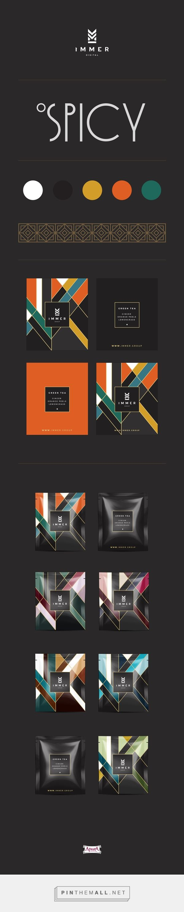 Immer Tea Packaging by Gundega Bruvere | Fivestar Branding Agency – Design and Branding Agency & Curated Inspiration Gallery #packaging #packagingdesign #design #designideas #designinspiration