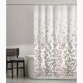 Polyester Floral Purple Floral Shower Curtain 7184001 Fabric