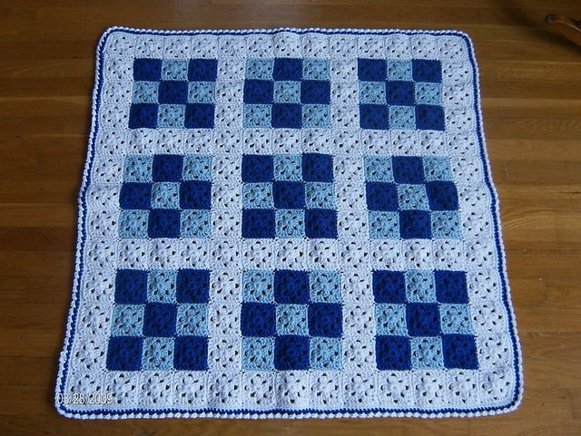 Crochet Quilt : Ravelry: Baby Nine Patch Crochet Quilt pattern by Melanie Henderson ...