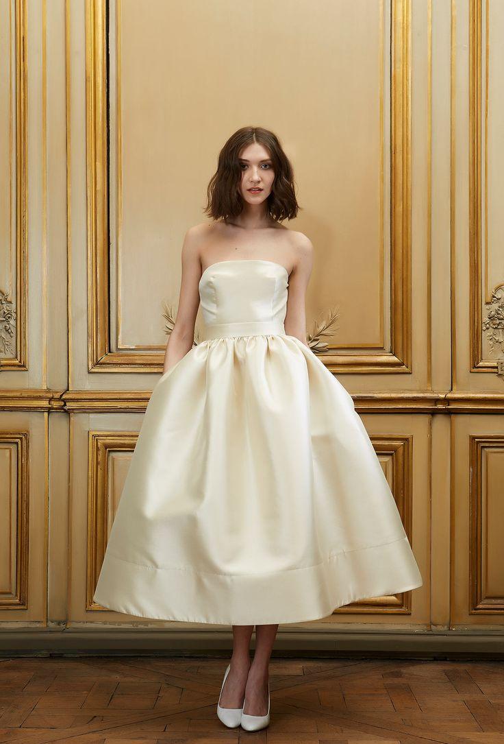 Delphine Manivet - Wedding dress designer Paris : Malo Top & Yves Skirt - Ivory or champagne ...