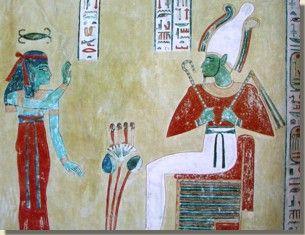 De godin Neith, graf van Chaemwaset, Loeksor. Neith is één van de oudst bekende godinnen van het Oude Egypte. Van de late Predynastische Periode tot in de eerste Dynastische Periode was zij een belangrijke godin. Vanaf het Middenrijk tot in het begin van het Nieuwe Rijk neemt haar status echter af. Lees het volledige artikel op Kemet.nl