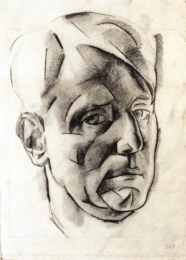 Self-Portrait   by Vilmos Aba-Novák
