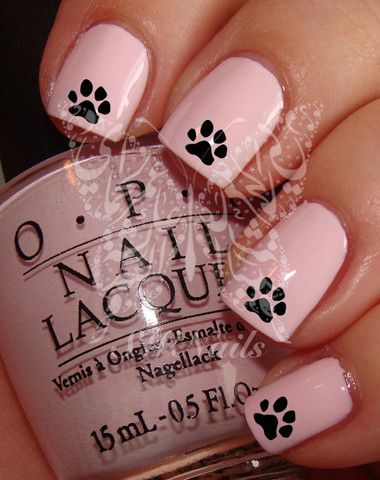Black Paw Nail Art Nail Water Decals Transfers Wraps