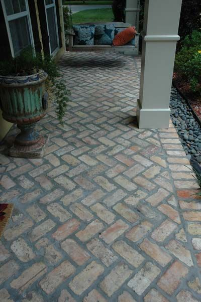 Old Chicago Antique Brick Floor Tile Yellow Road In 2018 Pinterest Porch Patio And Flooring