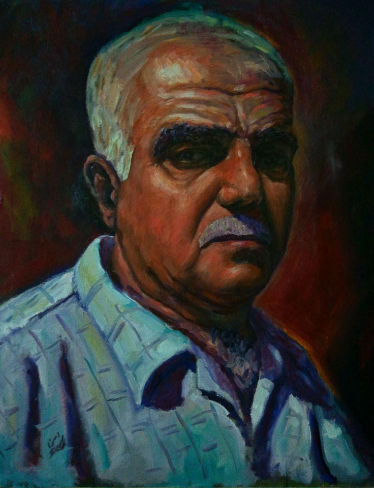Portrait of Salim Haddad (father) by Rassen Haddad 2013