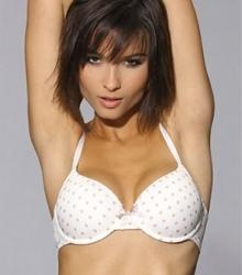 LingaDore Daily White Polka Dot Padded T-Shirt Bra