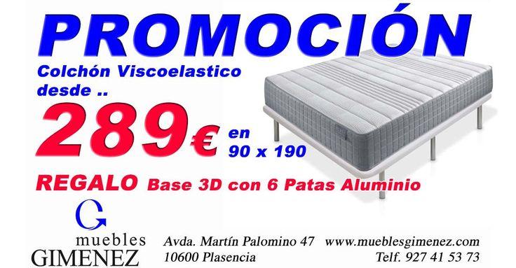 OFERTA Colchón Viscoelastico, desde 289€ en Muebles Giménez
