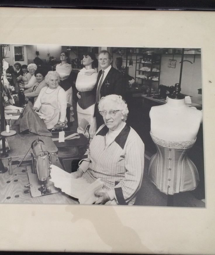 In side the Vollers Corsets Factory in the 1970's