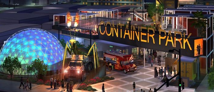 The Downtown Las Vegas Container Park is Now Open   Travelivery Las Vegas