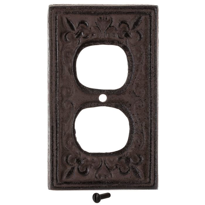 Rust Cast Iron Outlet Cover Hobby Lobby 466144 In 2020 Outlet Covers It Cast Cast Iron