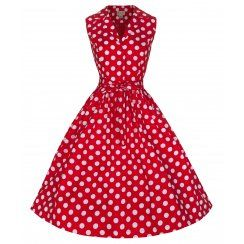 'Matilda' Fabulously Flirty 50's Rockabilly Polka Dot Shirt Dress