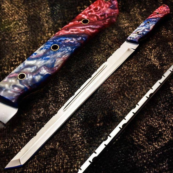 ALONZO KNIVES USA CUSTOM HANDMADE TANTO MACHETE 01 TOOL STEEL KNIFE CORELON 34 #AlonzoKnives