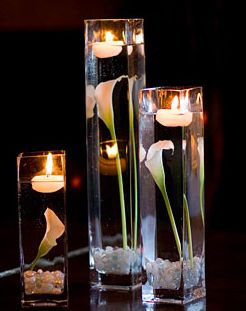 Floating candle centerpiece idea #2