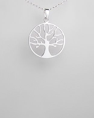 Short Pendant - Black and White Trees by VIDA VIDA jTFAFEPdT5