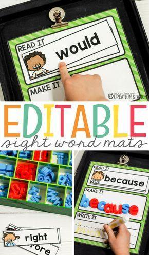 Editable Sight Word Magnetic Letter Center - Mrs. Jones' Creation Station