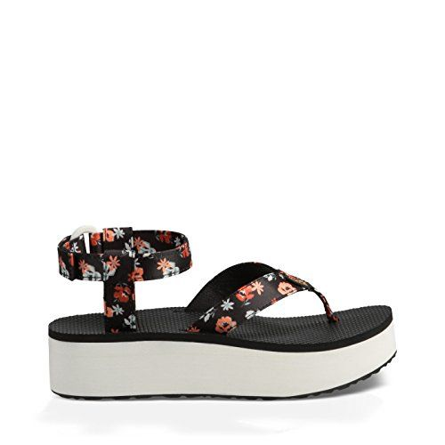 Teva Womens W Flatform Floral Ankle Strap Sandal Persimmon Flora 8 M US -- Want additional info? Click on the image.(This is an Amazon affiliate link and I receive a commission for the sales)