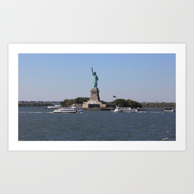 Statue of Liberty Art Print by Jaana - $17.00