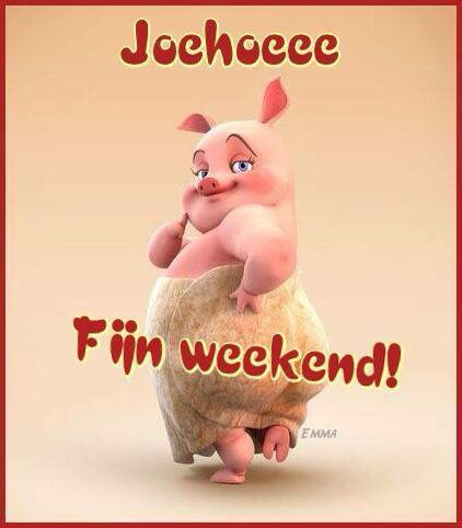 Joehoeee. Fijn weekend!