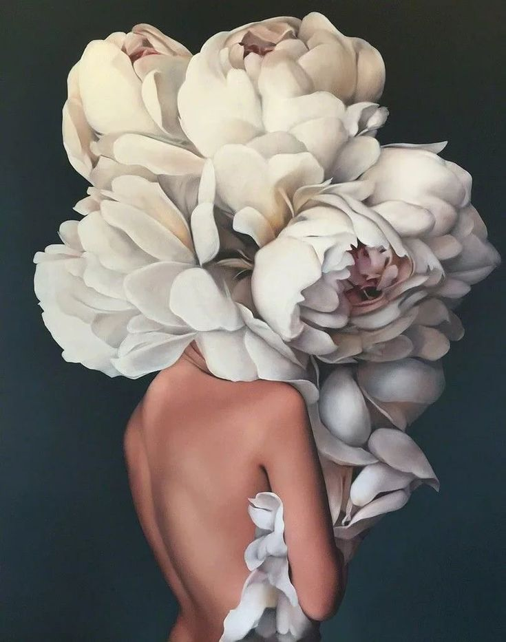Голова с цветами картинка