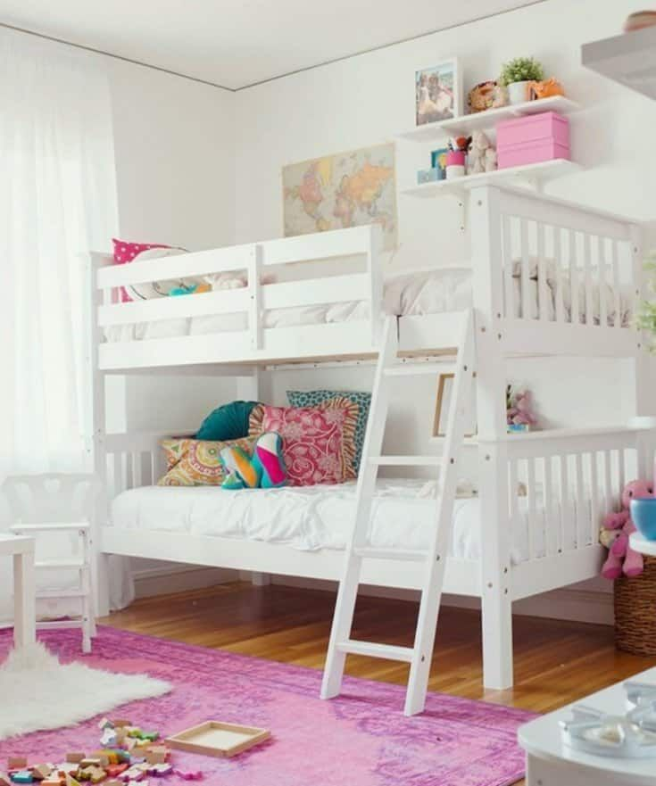 Teenage Girl Bedroom Ideas For A Teenage Girl Or Girls May Be A Little Tricky Because She Has Grown Up T Shared Girls Bedroom Girls Bunk Beds Bunk Bed Designs