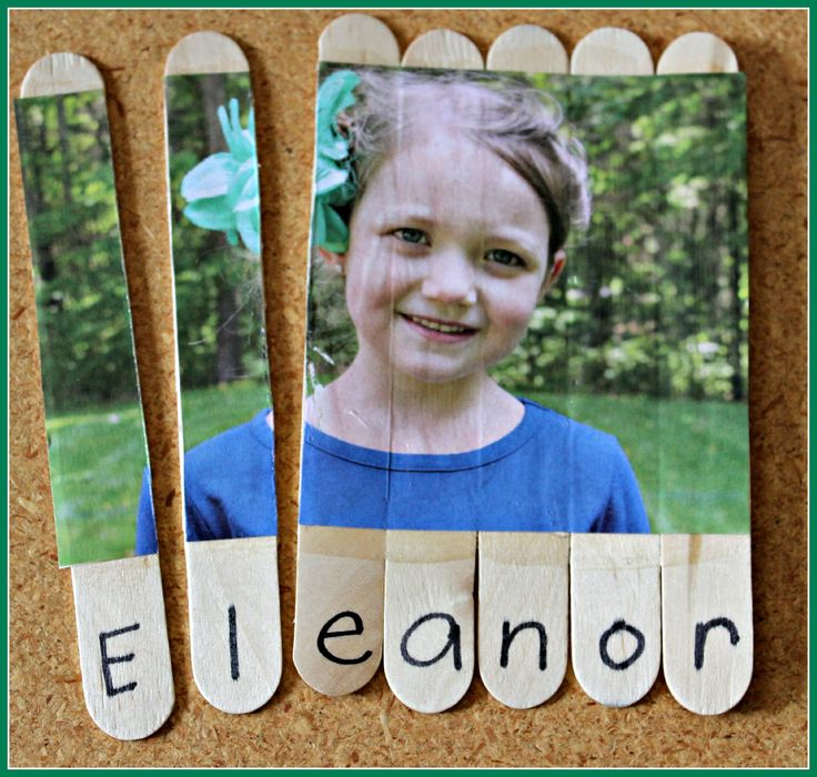 These name puzzles are certainly a hit! There's no better way to practice name and letter recognition than to use your child's picture and create their very own puzzle. Making the puzzle is super easy. All you'll need are large craft sticks (one for each letter or your child's name), a picture of your child …