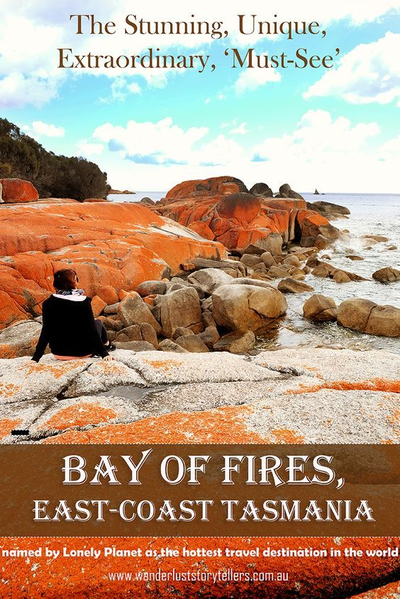 Lonely Planet has named this magical place the hottest travel destination in the world.  Bay of Fires on the East-Coast of Tasmania, Australia!  Definitely worth a visit!  Click the photo to read more! l Wanderlust Storytellers