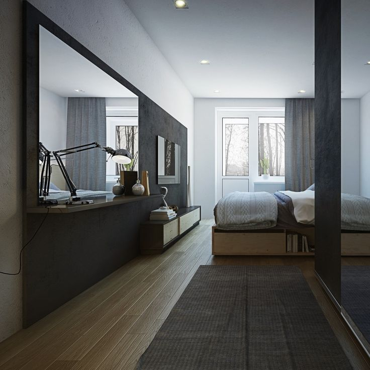 Apartment Designs For A Small Family  Young Couple And A Bachelor185 best bedroom images on Pinterest   Wooden flooring  3 4 beds  . Long Bedroom Design. Home Design Ideas