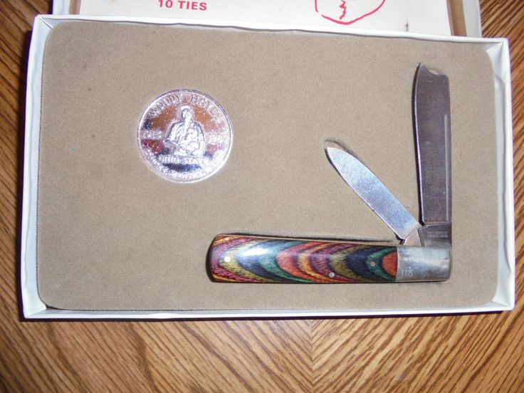 Vintage Woody Hayes Ohio State Buckeyes Pocket Knife coin #USA