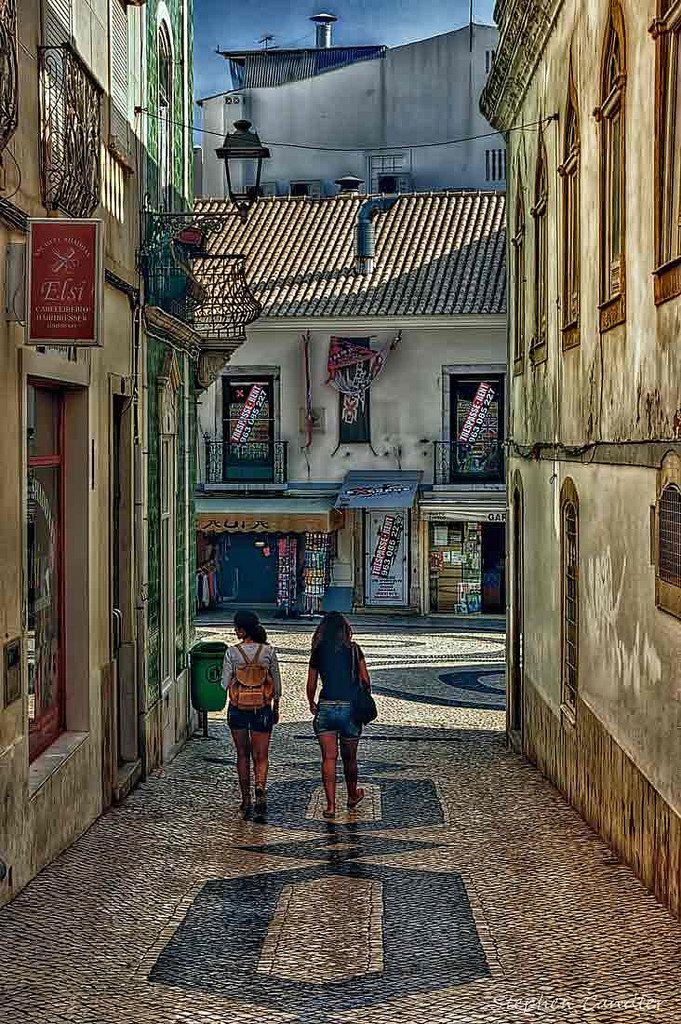 Street in Lagos, Faro_ Portugal