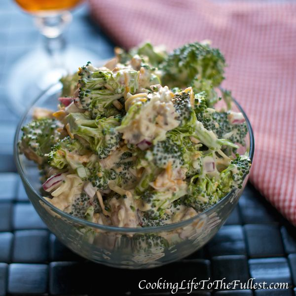 Amish Broccoli Salad I also add sunflower seeds and Golden Raisins So yummy!