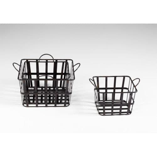 Cyan Design 4715 16.5 Wire Grocery Basket, Grey (Iron)