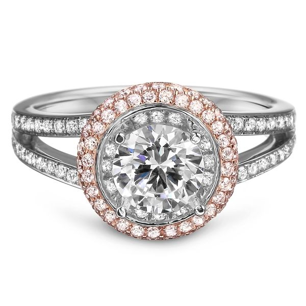 Diadori rose gold halo diamond engagement ring - A little too big on the center stone, but <3 the setting!