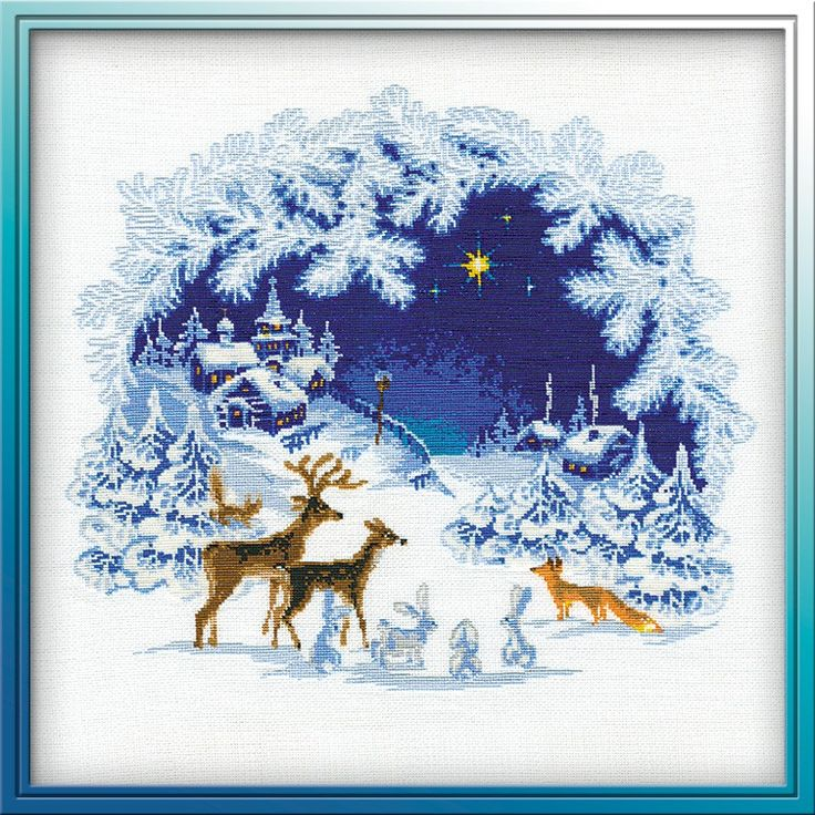 Woodland Christmas by Riolis, counted cross stitch kit