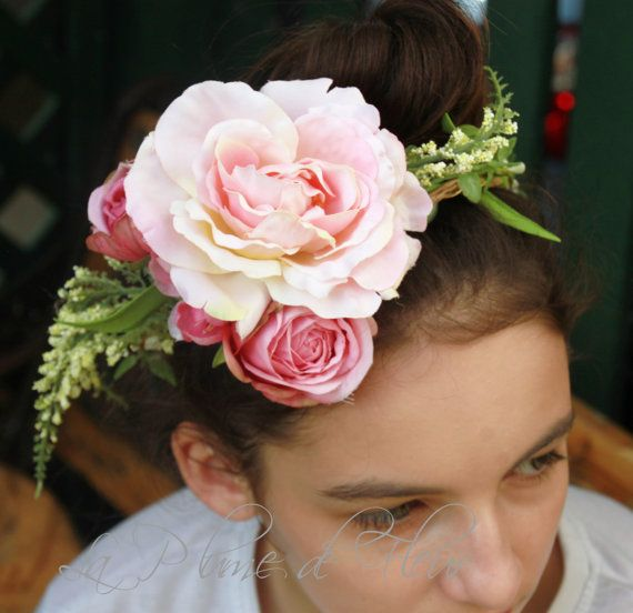 Queenie Silk flower crown hair circlet. Flower by LaPlumeDeFleur
