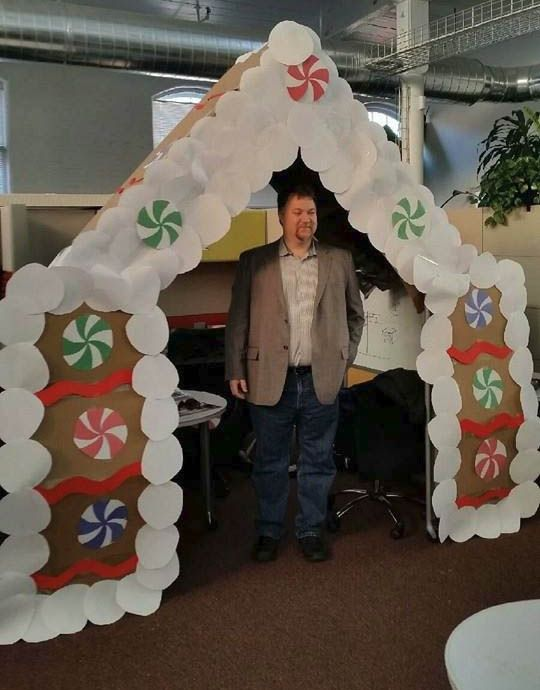 Todd And His Gingerbread House Office Christmas