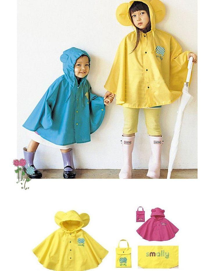 Novas crianças estilo Moda Meninos Meninas gabardinas Rainwear Chuva Poncho capa de chuva amarela , cor de rosa azul 1 ~ 8 anos em Capas de Chuva de Casa & jardim no AliExpress.com | Alibaba Group