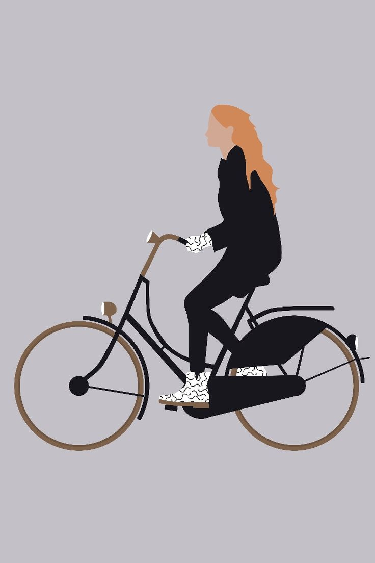 Vector People Womens Bicycle Ideas Of Womens Bicycle